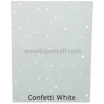 Translucent White Confetti  30 lb Bond - Sheets 8-1/2 x 11