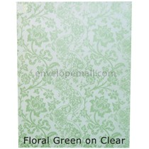 "Translucent Floral Green 30 lb Bond - Sheets 8-1/2 x 11"" 100 Pack"