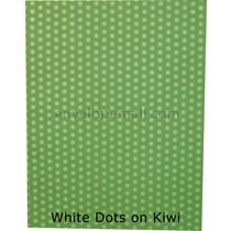 """Translucent White Dots/Kiwi 30 lb Bond - Sheets 8-1/2 x 11"""" 100 Pack"""