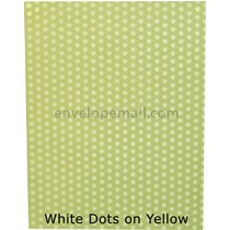 "Translucent White Dots/Yellow 30 lb Bond - Sheets 8-1/2 x 11"" 100 Pack"