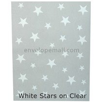 "Translucent White Stars 30 lb Bond - Sheets 8-1/2 x 11"" 100 Pack"