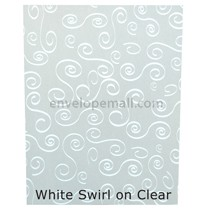 "Translucent White Swirl 30 lb Bond - Sheets 8-1/2 x 11"" 100 Pack"