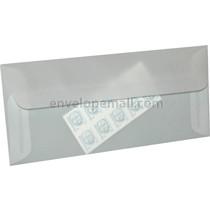 "Translucent Clear 4-1/8 x 9-1/2"" (No 10 Sq. Flap) Envelope"