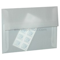 "Translucent Clear 3-5/8"" x 5-1/8"" (4Bar) Envelope 100 Pack"