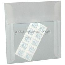 "Translucent Clear 6-1/2 x 6-1/2"" Square Envelope"