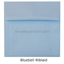 "Riblaid Bluebell - Square (5-1/2 x 5-1/2"") Envelope"