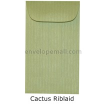"Riblaid Cactus - Mini Open End (2-1/4 x 3-3/4"") Envelope 100 Pack"