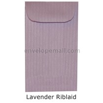 "Riblaid Lavender - Mini Open End (2-1/4 x 3-3/4"") Envelope 100 Pack"
