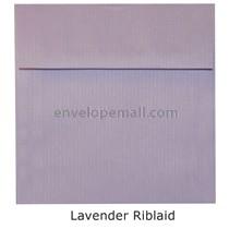 "Riblaid Lavender - Square (6-1/2 x 6-1/2"") Envelope"