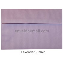 "Riblaid Lavender - Booklet (6 x 9"") Envelope"