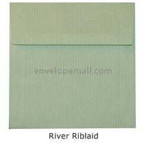 "Riblaid River - Square 5-1/2 x 5-1/2""  Envelope"