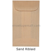 "Riblaid Sand - Mini Open End (2-1/4 x 3-3/4"") Envelope 100 Pack"