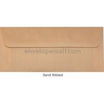 """Riblaid Sand - No 10 Sq Flap (4-1/8 x 9-1/2"""") Envelope"""