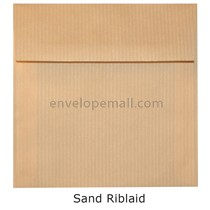 "Riblaid Sand - Square (6-1/2 x 6-1/2"") Envelope"
