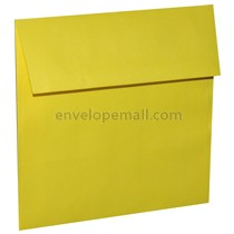 "Astrobright Sunburst Yellow 5-3/4 x 5-3/4"" (Square) Envelope 100 Pack"