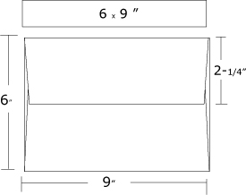 Envelope Sizes - 9x12 booklet envelope template