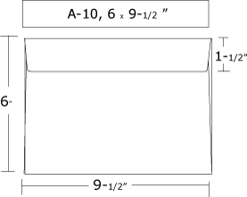 Envelope Sizes - A10 envelope template
