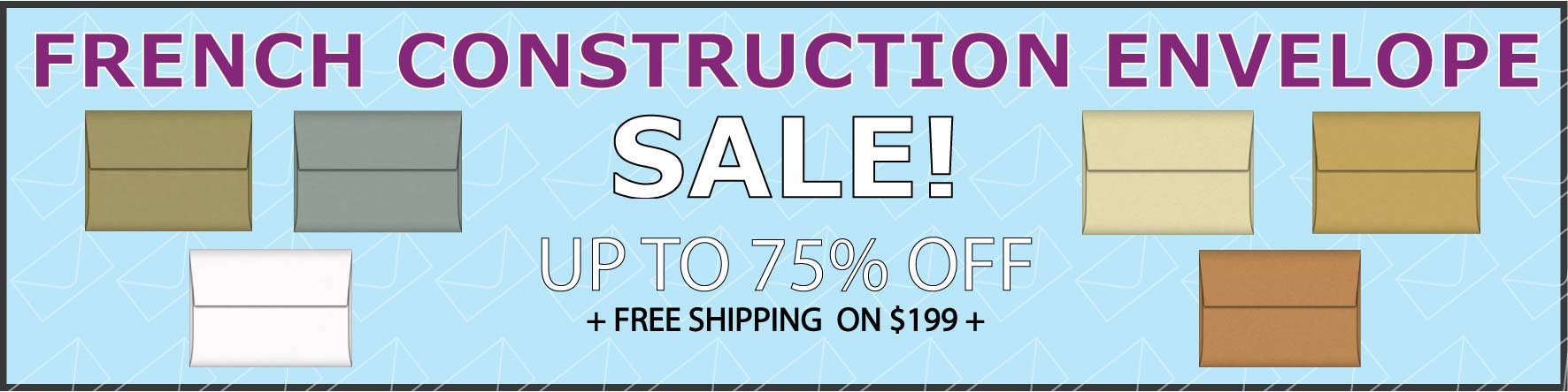 French Construction Envelope Sale